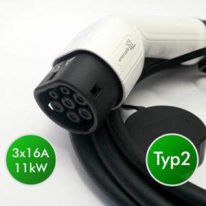 Elektroauto Ladekabel einstellbar Typ2 CEE rot 3x16A